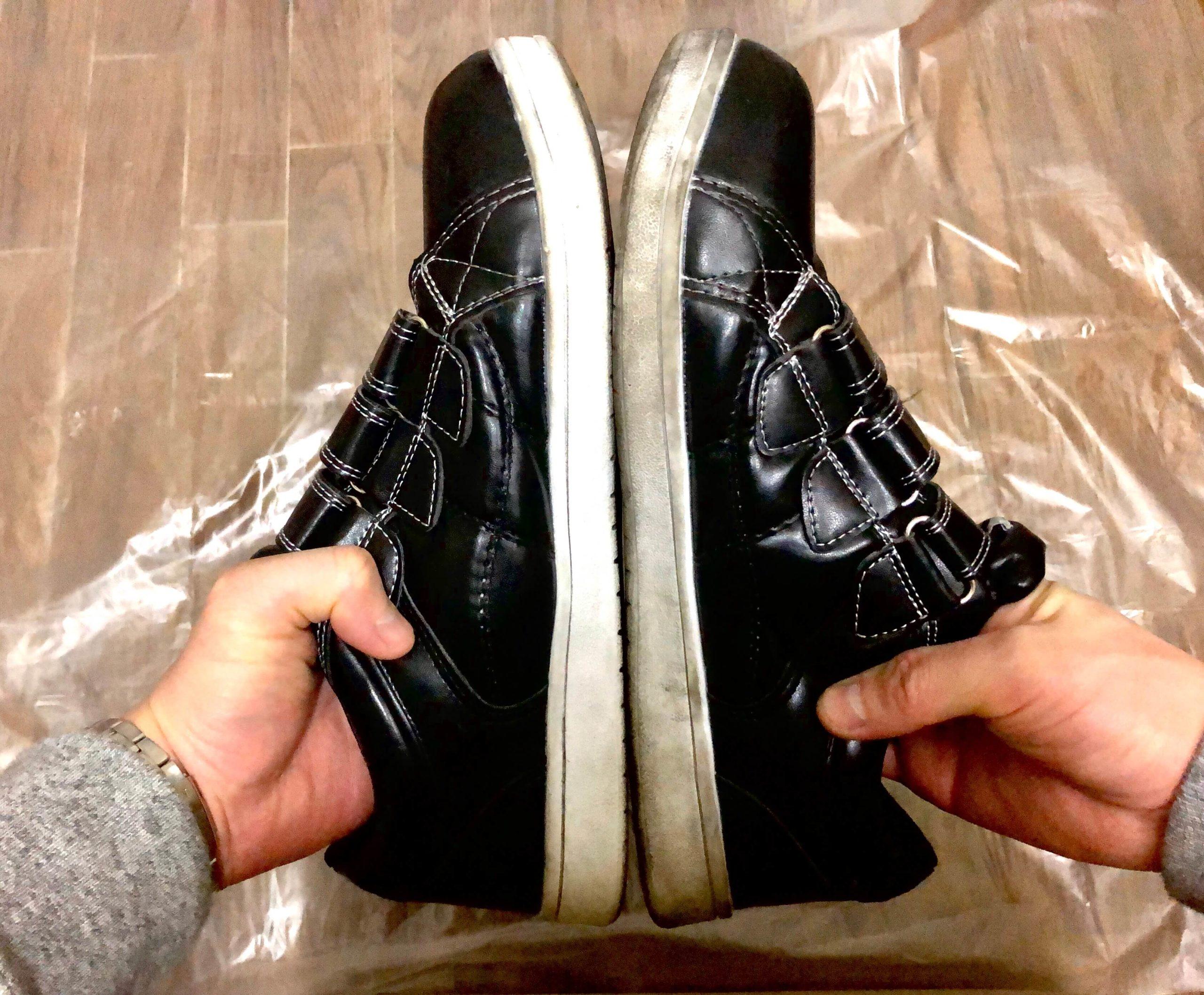 靴のラバーソールの汚れを綺麗にする方法