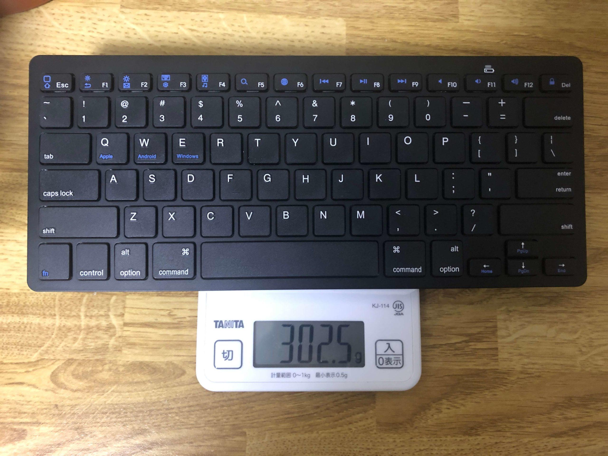 iPhoneと相性抜群なBluetoothキーボードは300gと軽量